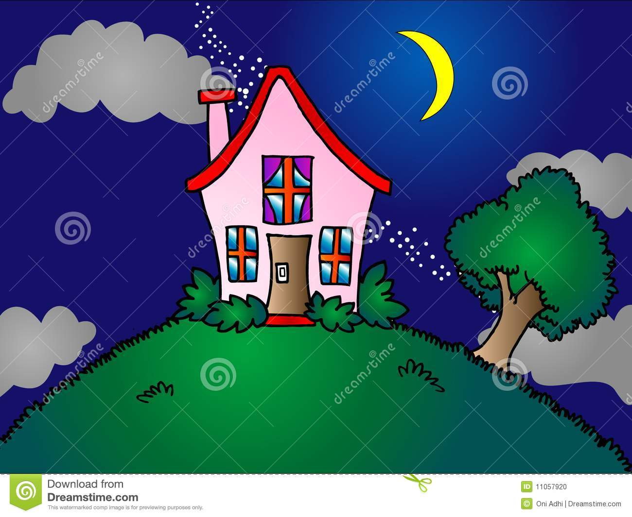 house on hill clipart - photo #24