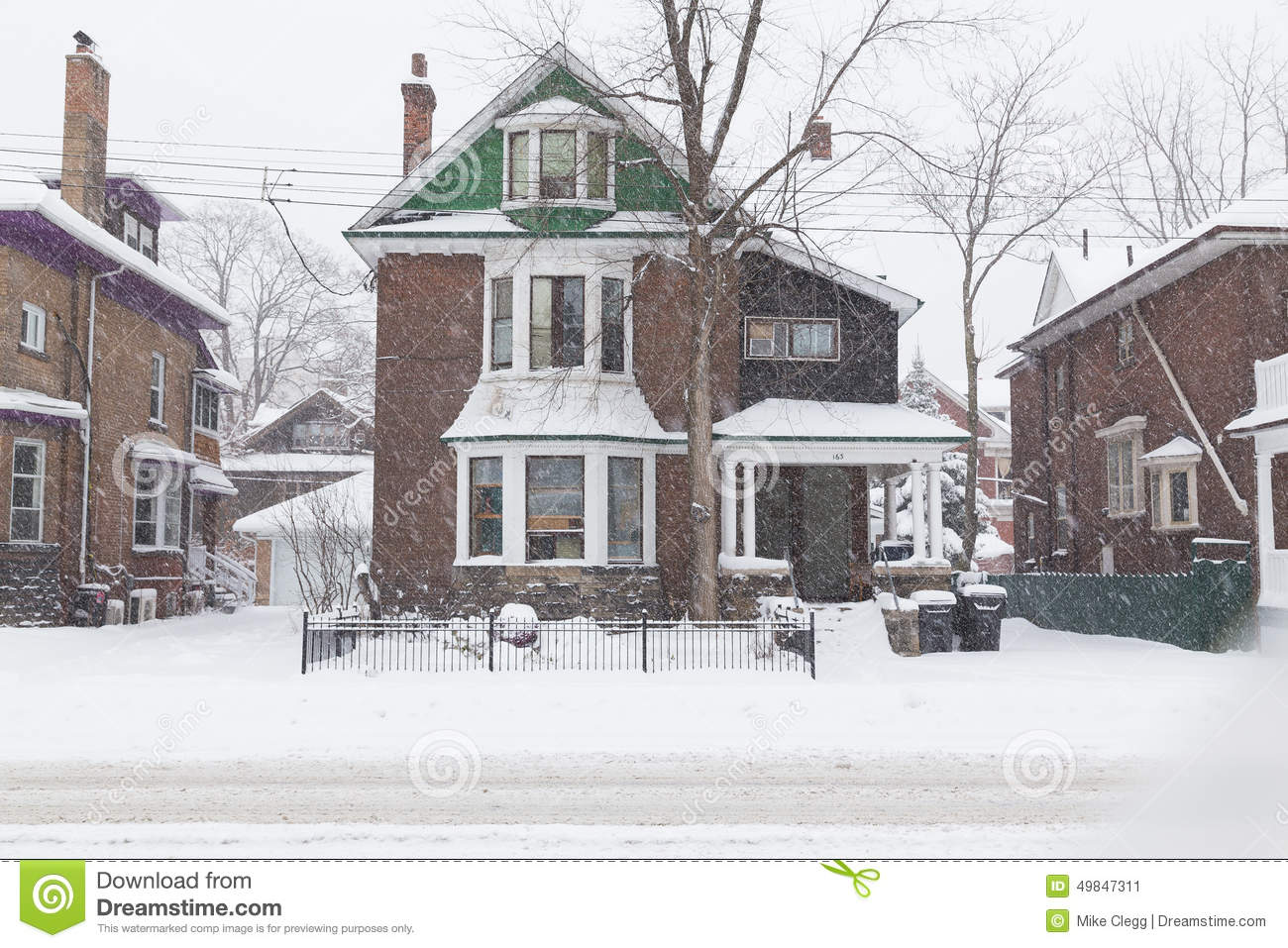 House in Toronto During a Snowstorm