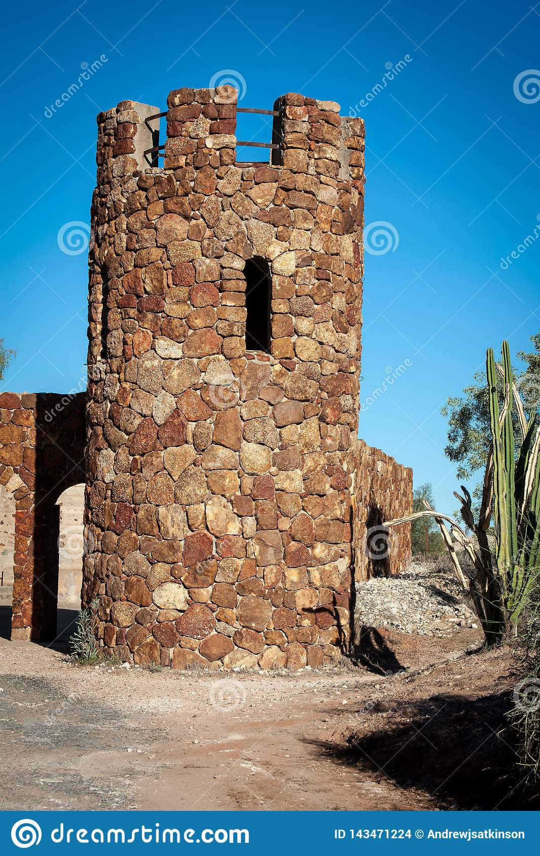 House or tower made of stone