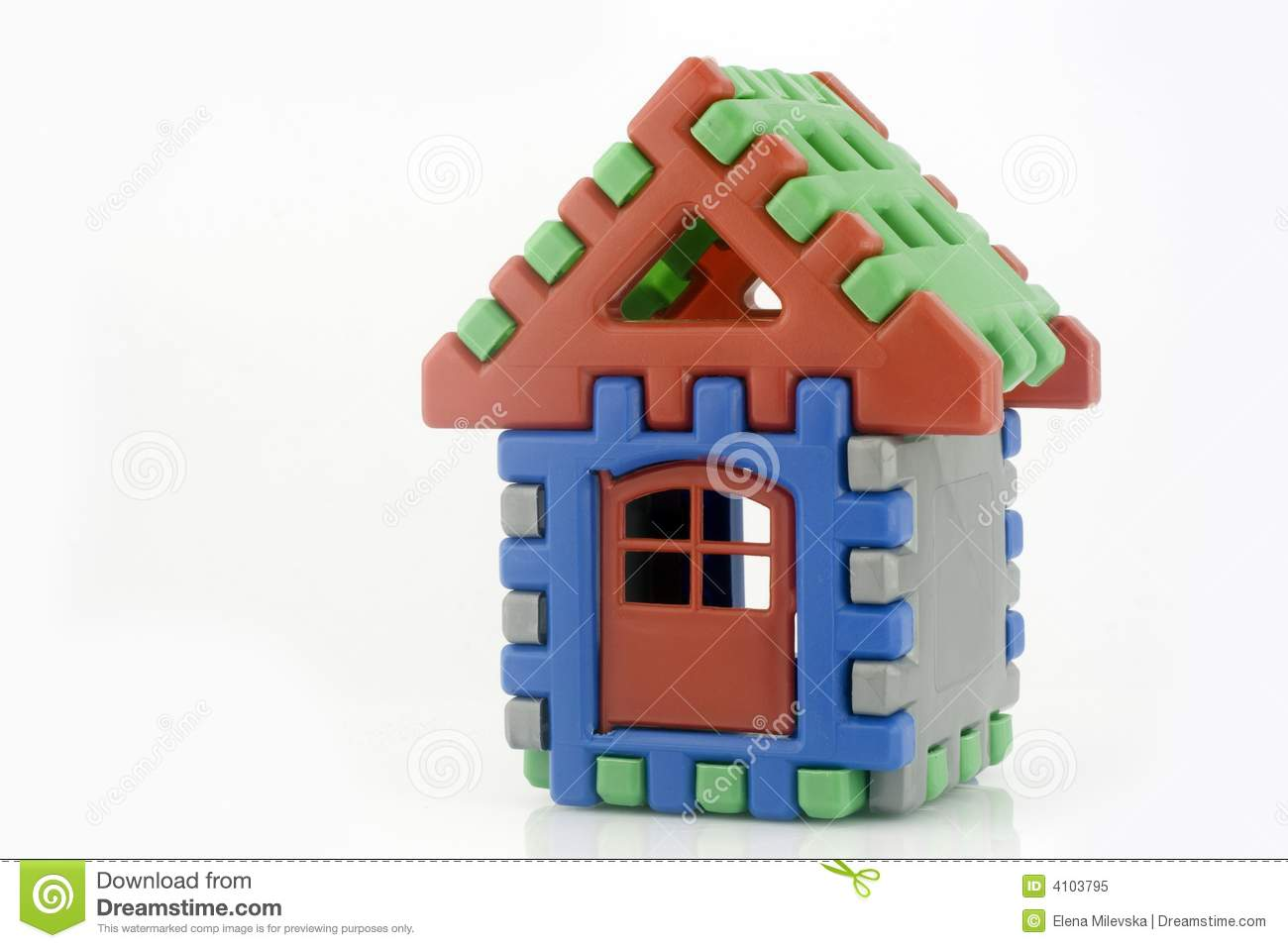 House toy with door  sc 1 st  Dreamstime.com & House toy with door stock image. Image of play miniature - 4103795