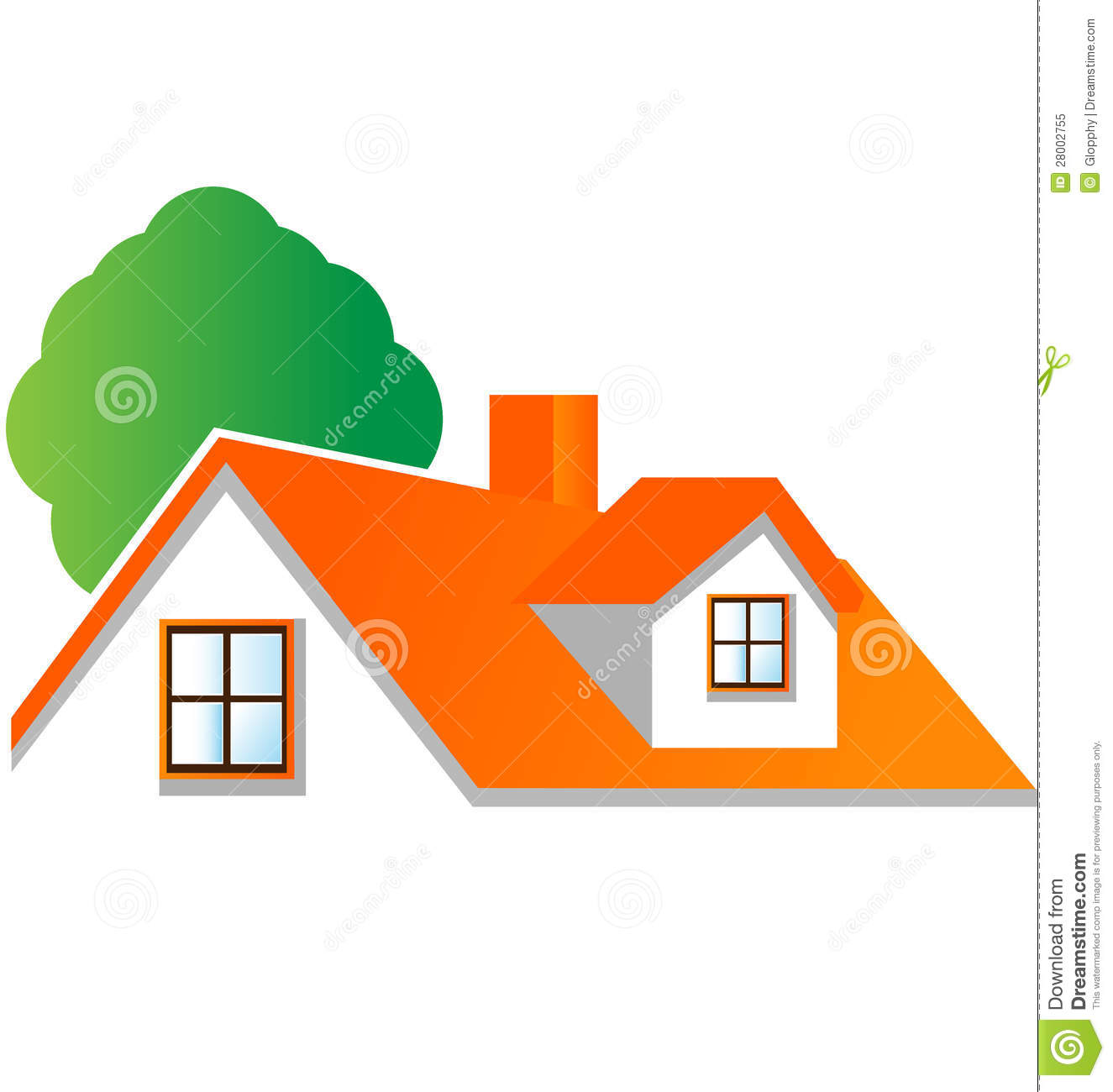 House With Tree Logo Vector Stock Image 28002755