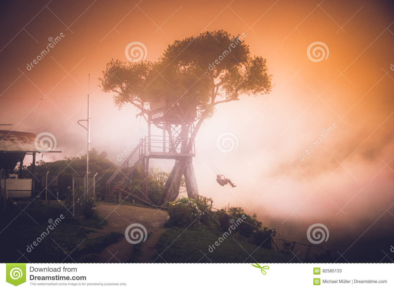The house in the tree in Baos