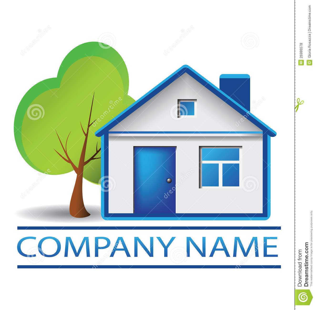House And Tree Logo Stock Vector Image Of Finance