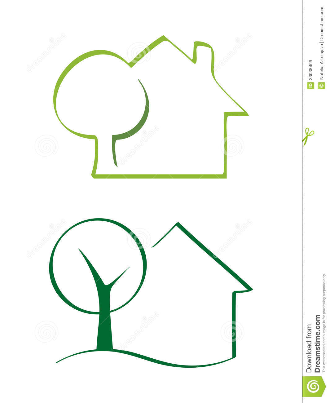 House And Tree Royalty Free Stock Images - Image: 33038409