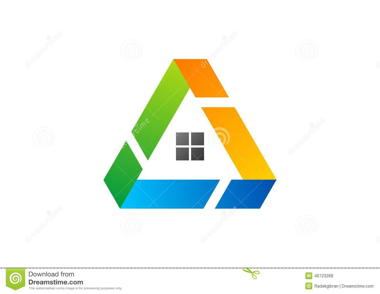 House triangle logo building architecture real estate home for House logo design free