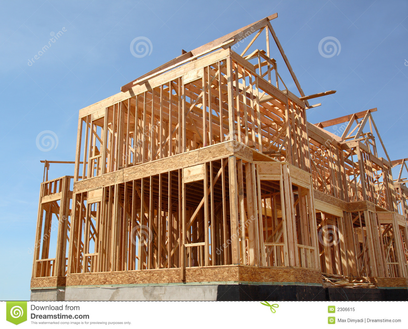 House under construction stock image image of design for What is a frame home