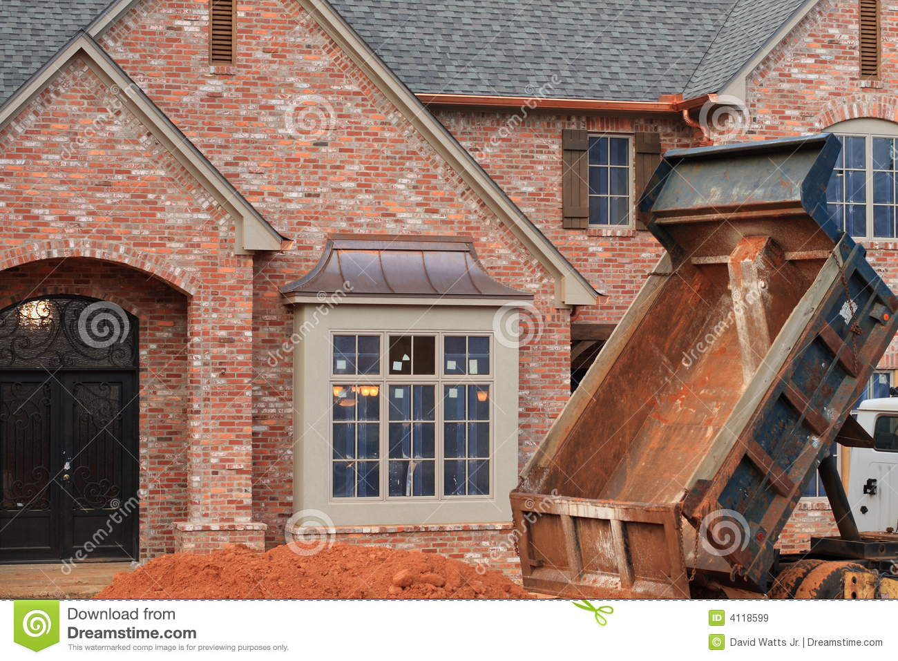 House under construction royalty free stock images image for All brick homes