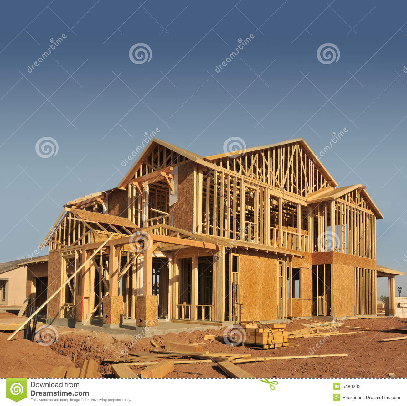 House under construction stock photography image 5460242 for Building under construction insurance