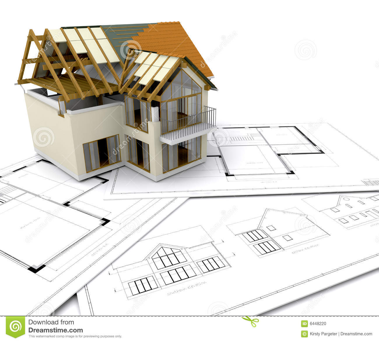 House under construction stock illustration illustration for Image construction maison