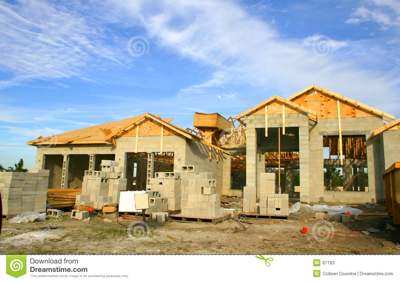 House under construction stock photos image 87183 for Houses that can be built for under 150k
