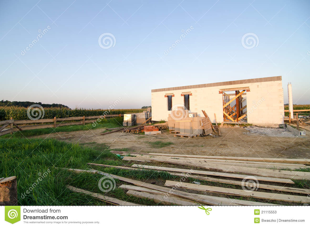 House under construction building site stock photos for Home building sites