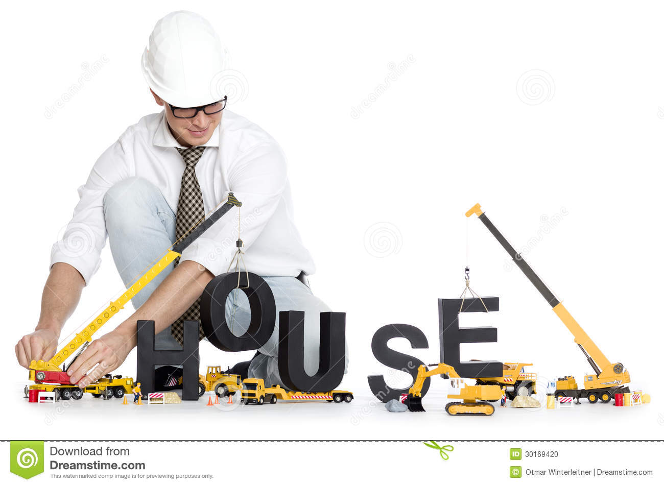 Build Up A House Engineer Building House Word Stock