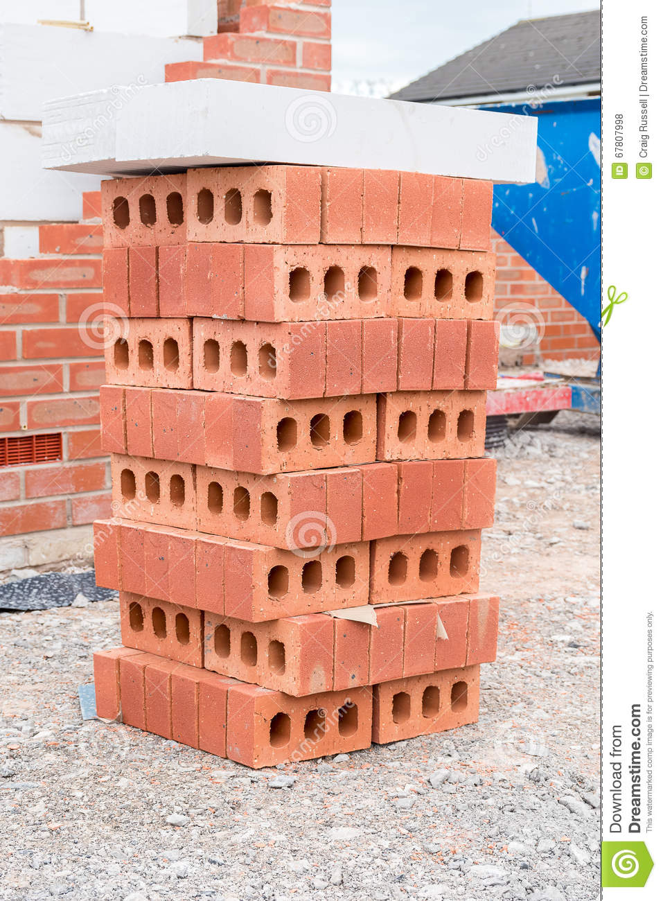 House under construction stock photo image 67807998 for Construction stages of building a house