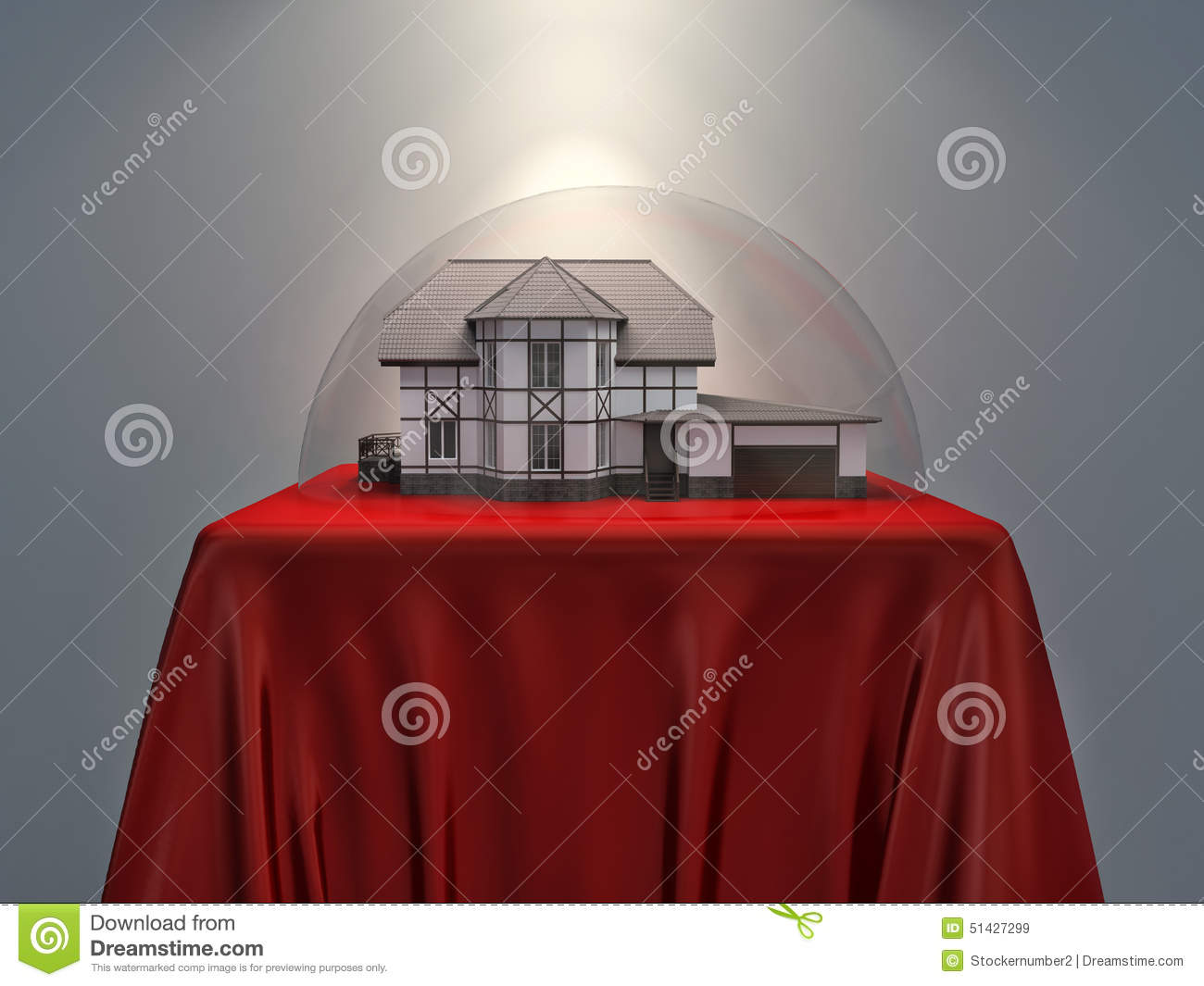 House Under The Dome Stock Illustration - Image: 51427299