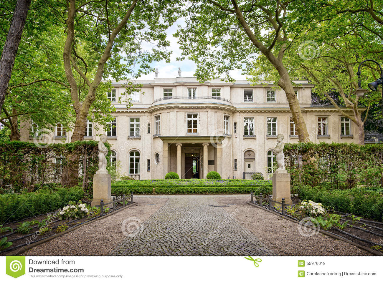 House of the wannsee conference in berlin germany stock photo image