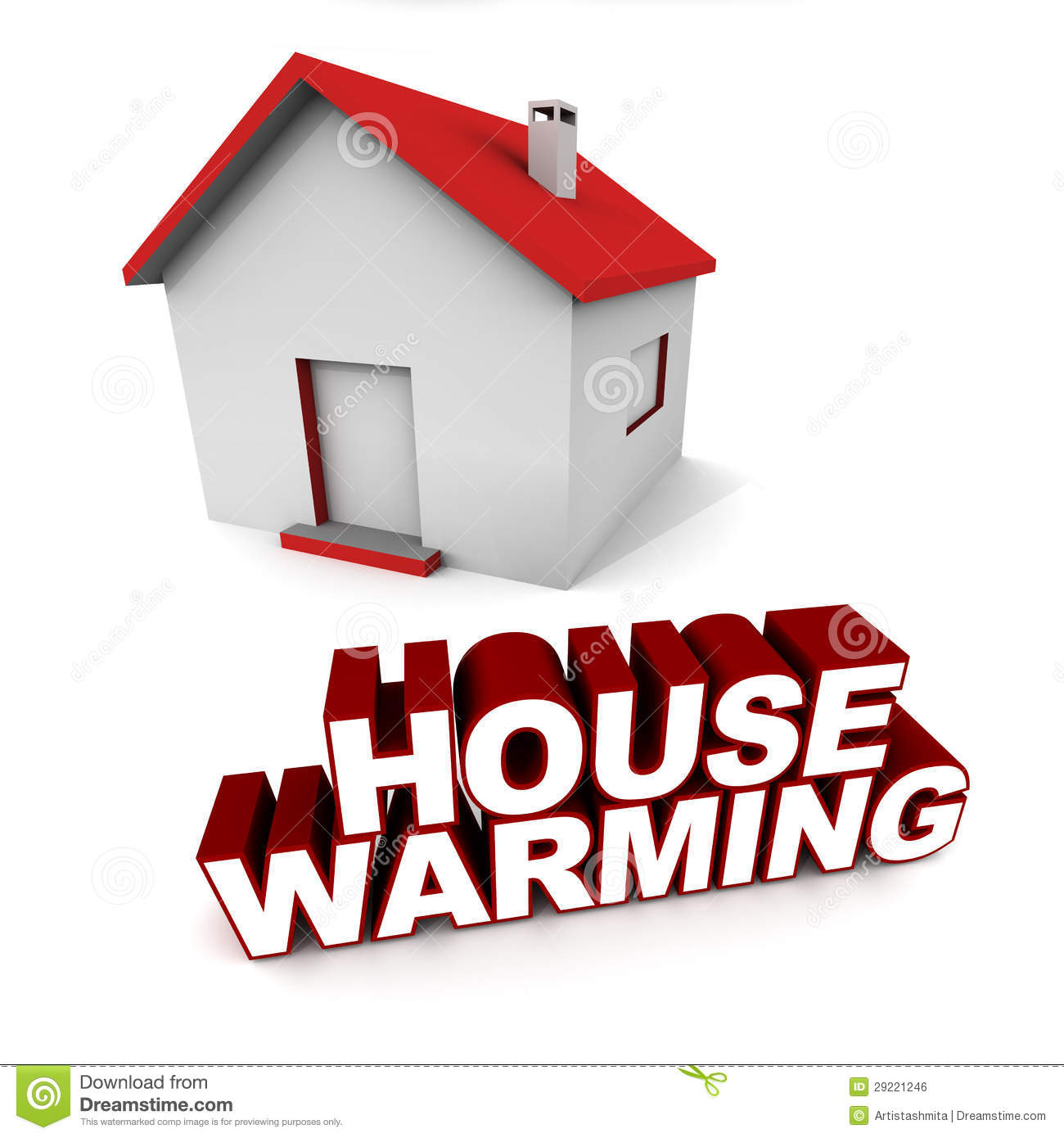 House warming stock illustration image of house real What is house warming