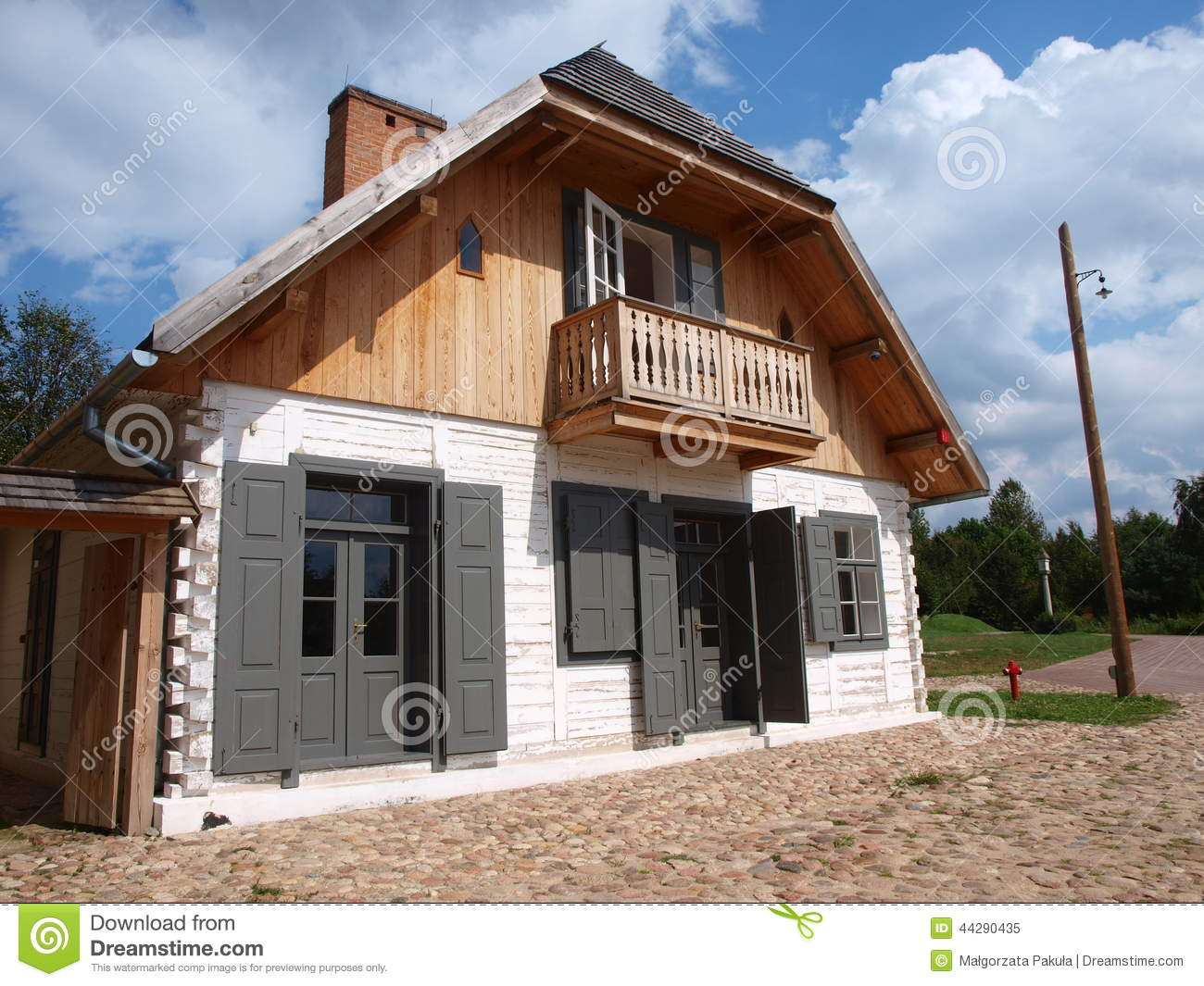 House From Wawolnica Lublin Poland Stock Photo Image 44290435