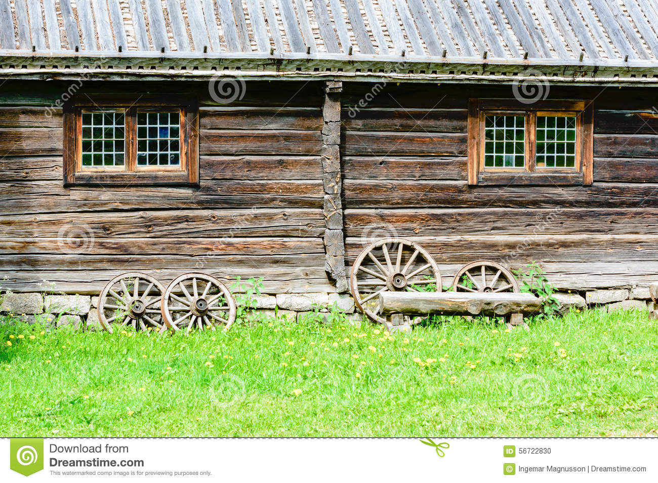 House wheels stock photo image 56722830 - The house on four wheels ...