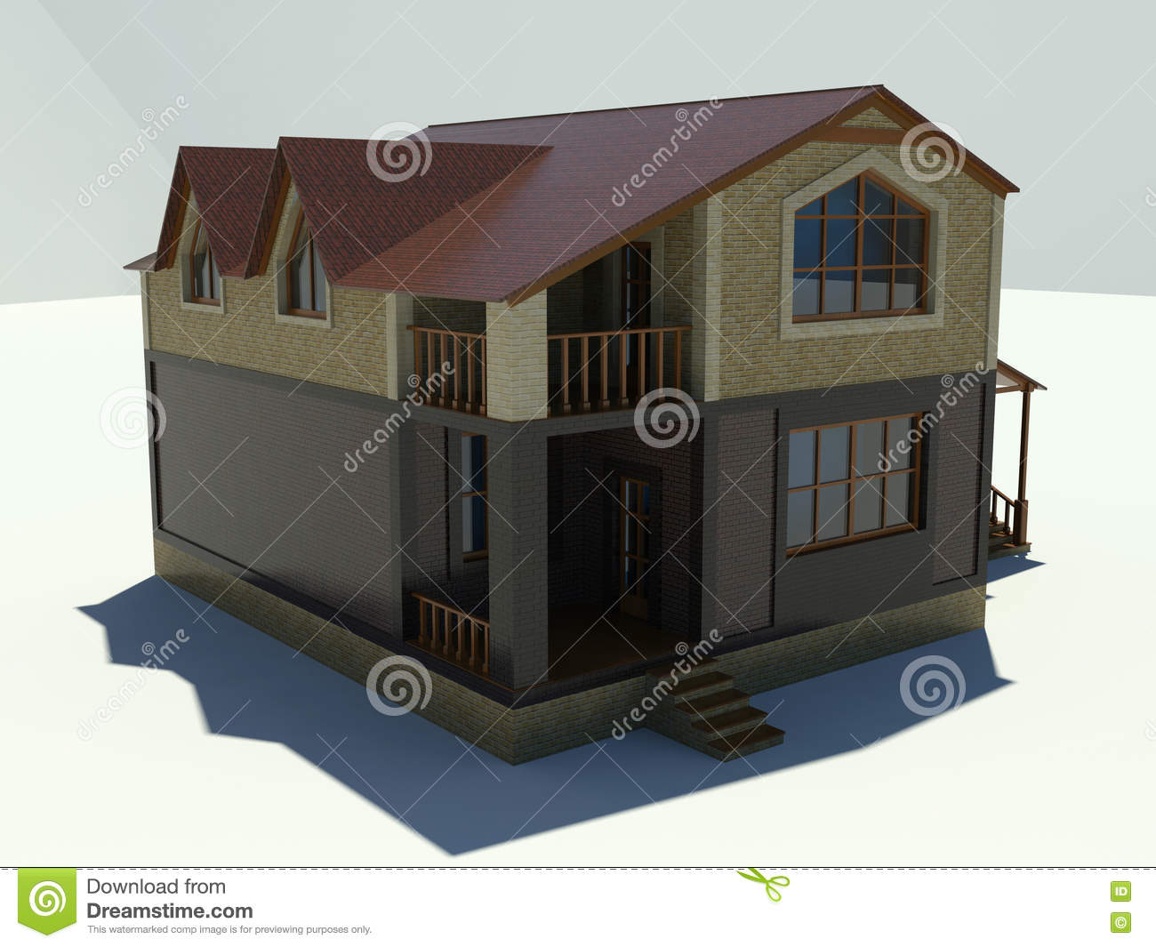 House On A White Background Royalty Free Stock Photo