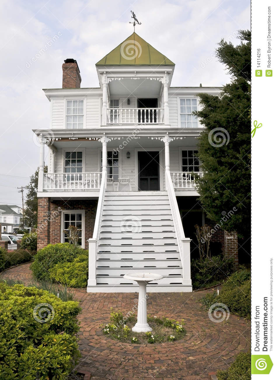 House With A Widows Watch Stock Photo Image Of Nautical