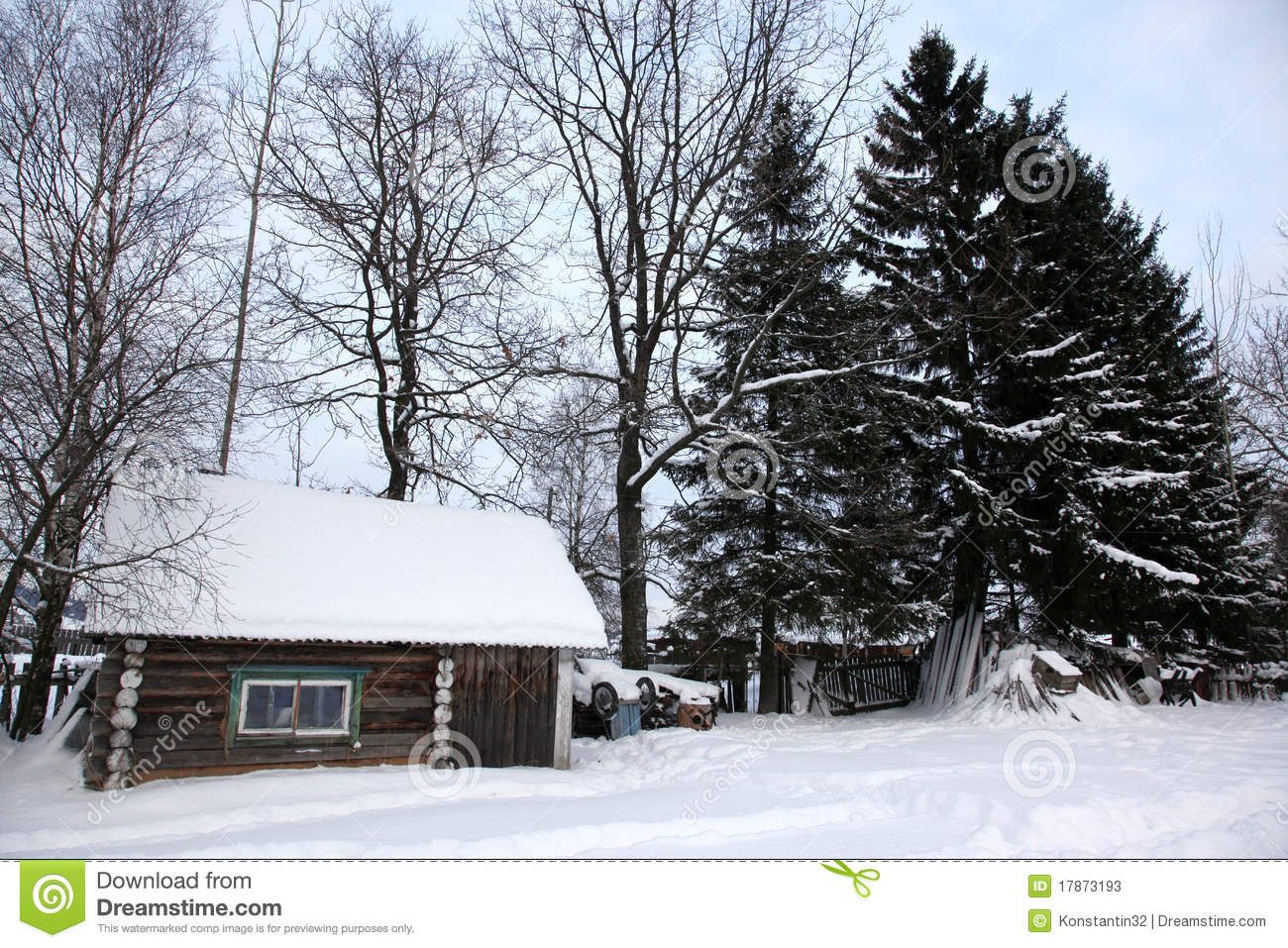 snow covered house - photo #27