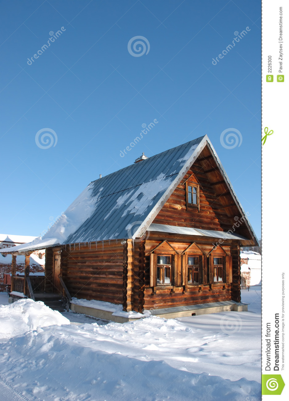 House In Winter Vertical Stock Photo Image 2226300