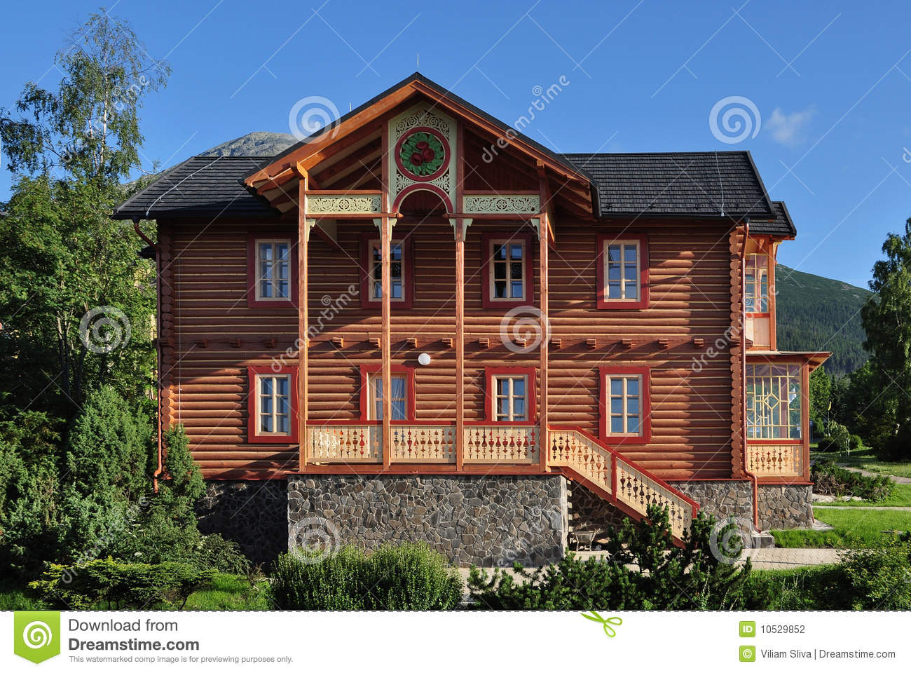 House of wood stock photo image of beauty terrace for Best wood for building a house