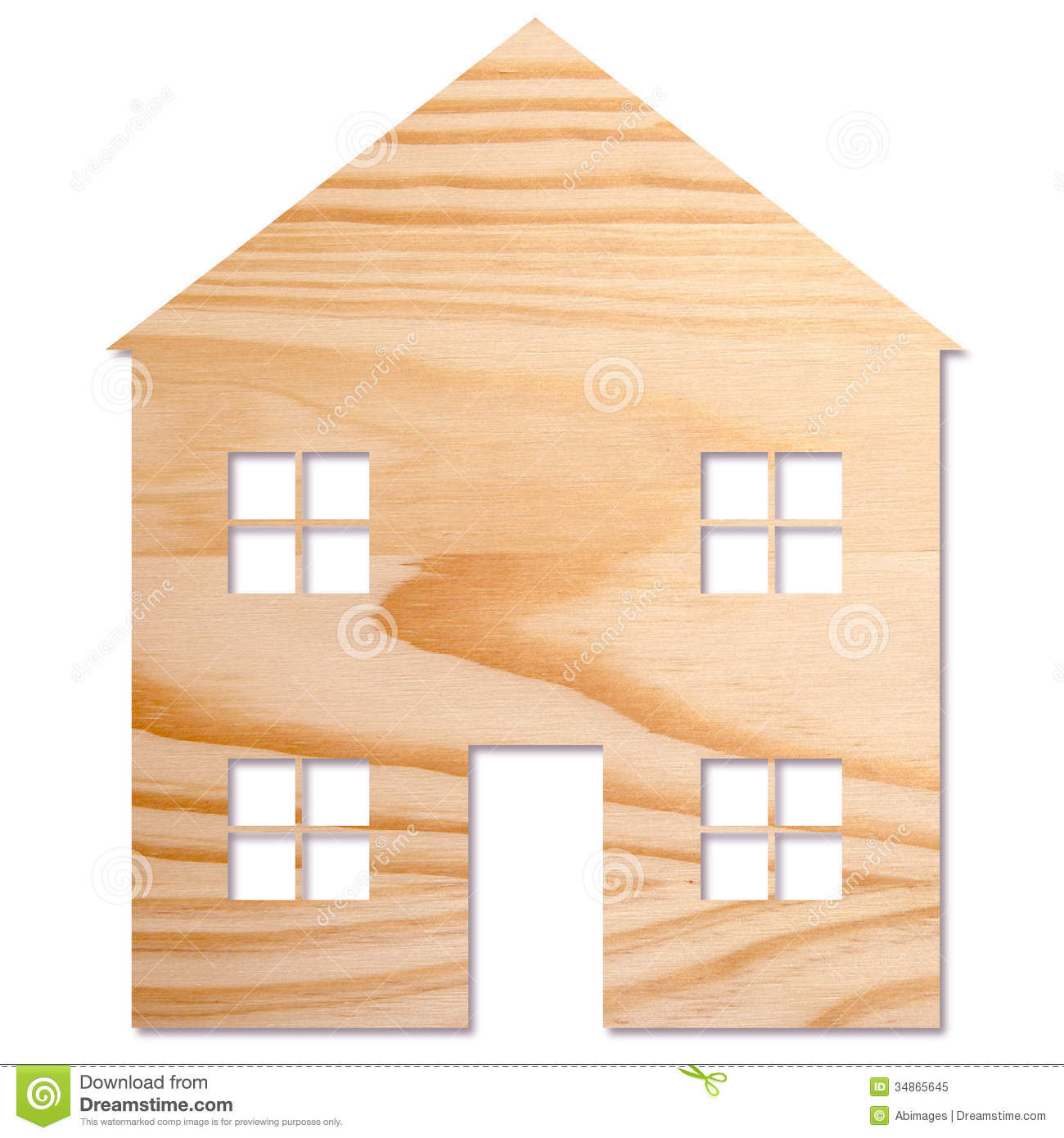 House In Wood Royalty Free Stock Photo - Image: 34865645
