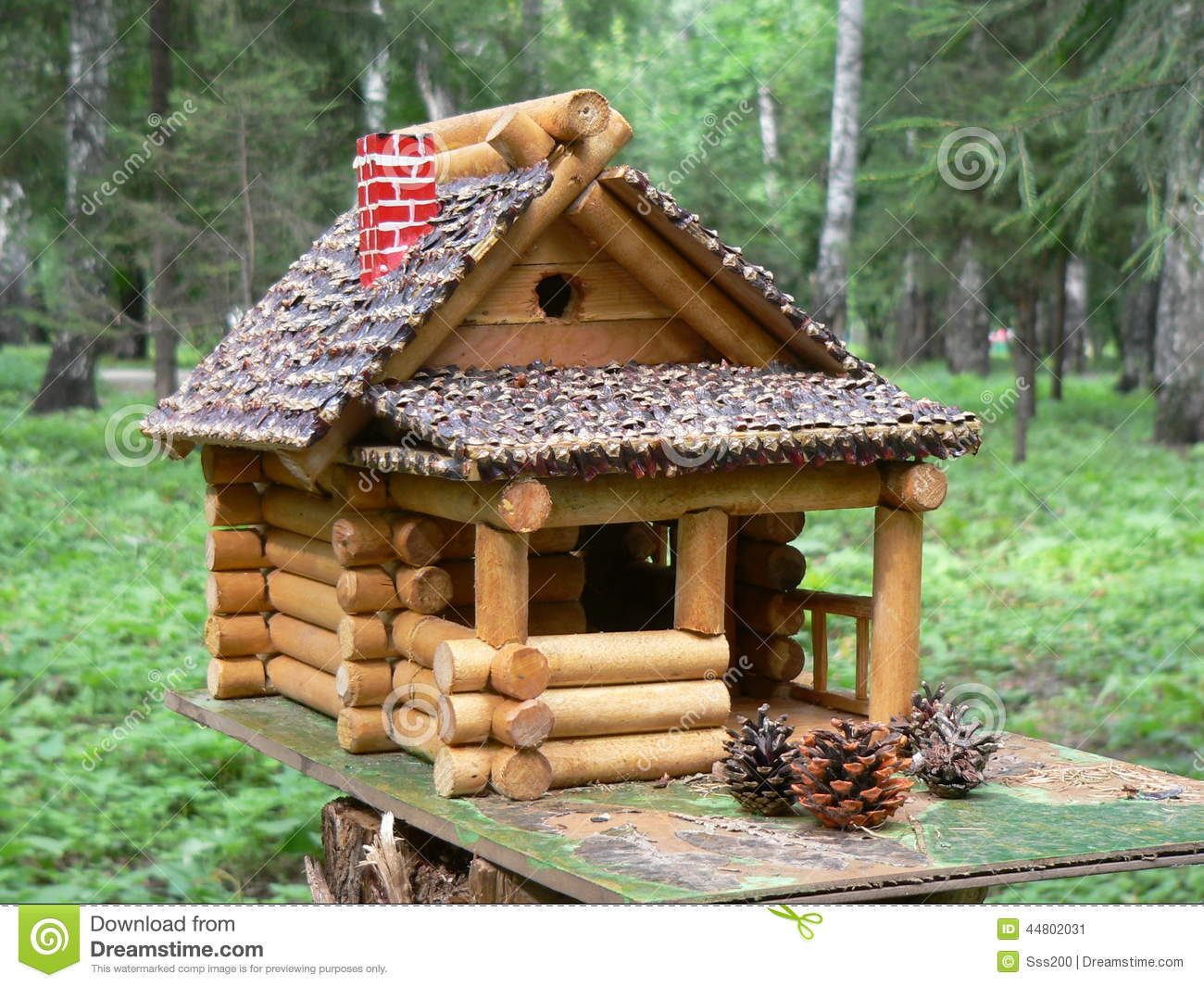 Window bird house plans - House In The Woods A Little House A Wooden Construction Forest Pine