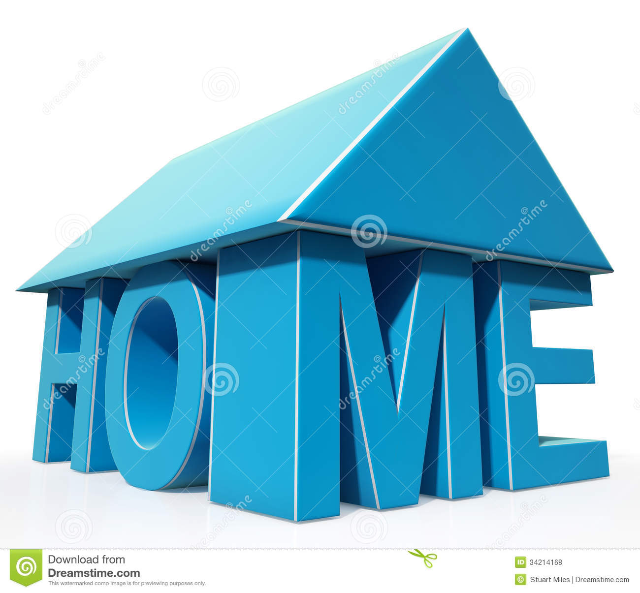 House Word Icon Shows House For Sale Royalty Free Stock Photos ...