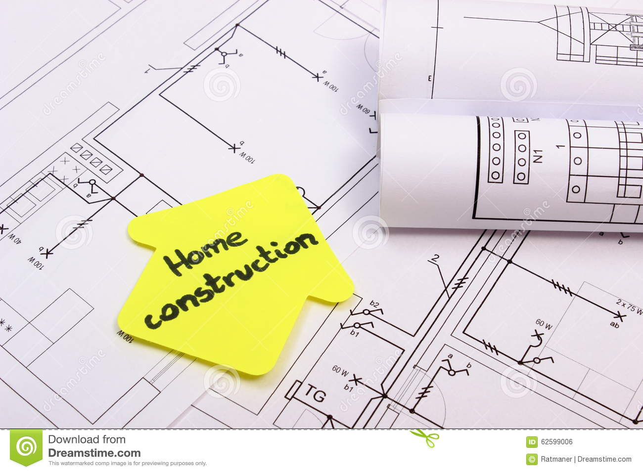 house of yellow paper with text home construction on diagram of house - Home Construction Diagram