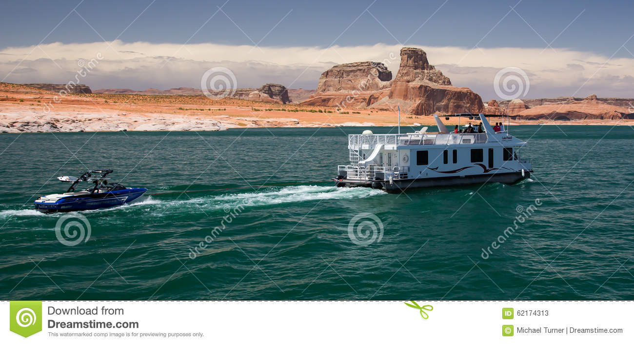 Houseboat On Lake Powell Editorial Stock Photo Image Of