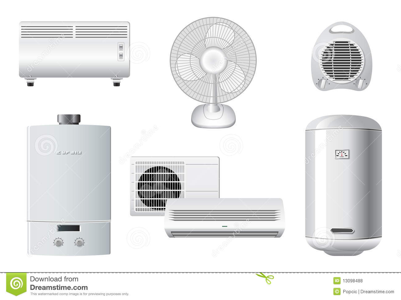 Household Appliances | Heating, Air Conditioning Royalty Free ...