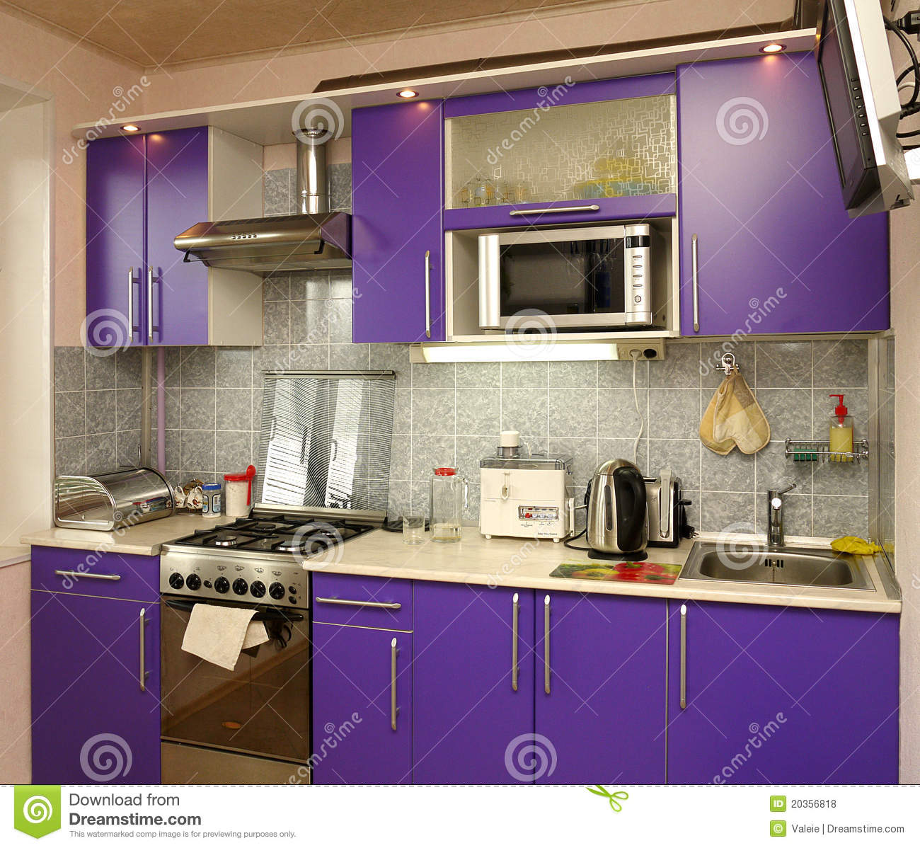 Household Appliances In Modern Kitchen Royalty Free Stock