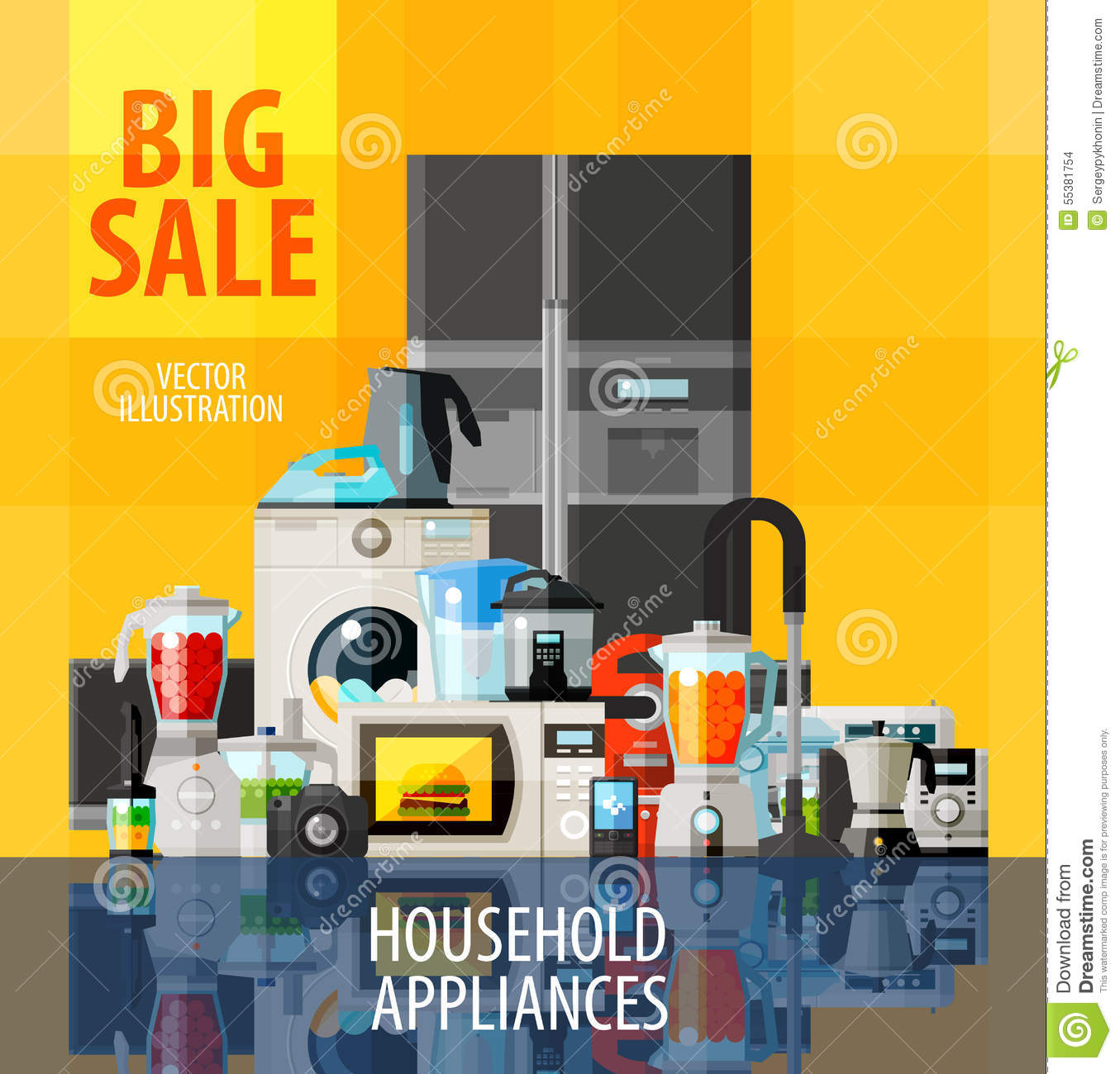 Household appliances vector logo design template stock for Household appliances design