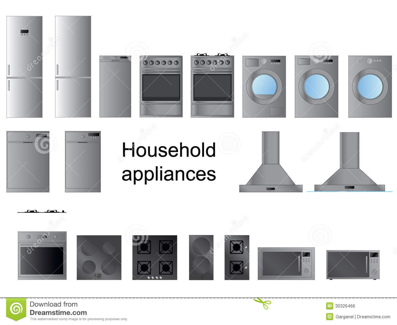 Household Appliances Royalty Free Stock Image - Image: 30326466