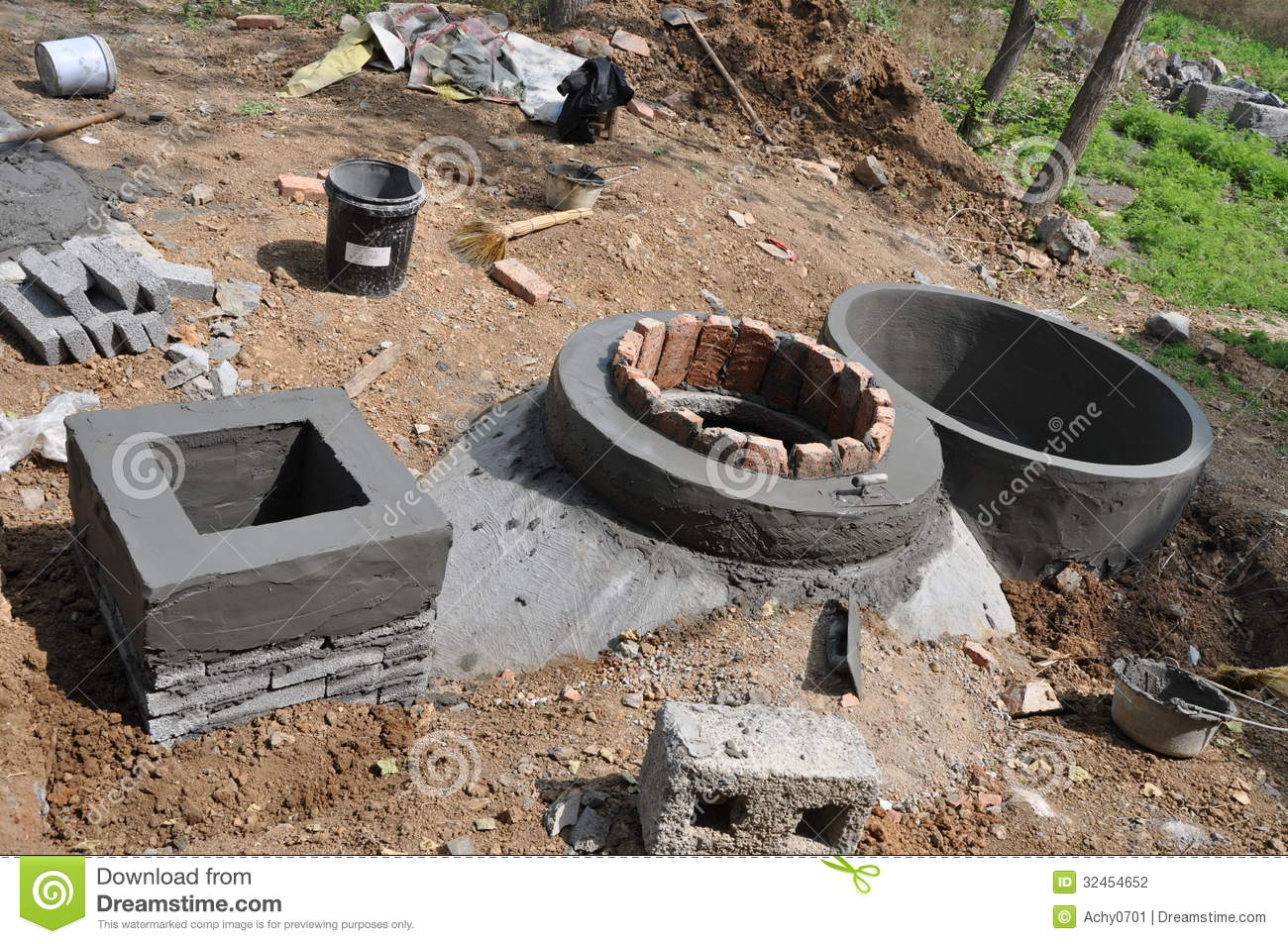 Household Biogas Digester Stock Photography - Image: 32454652