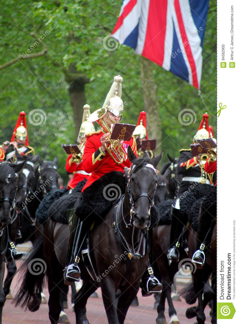 The Household Cavalry Band editorial image  Image of