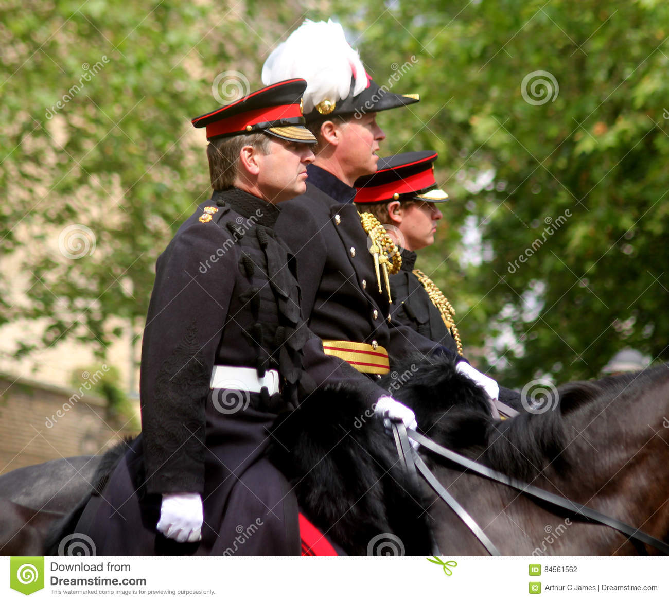 The Household Cavalry Officers Editorial Photography - Image