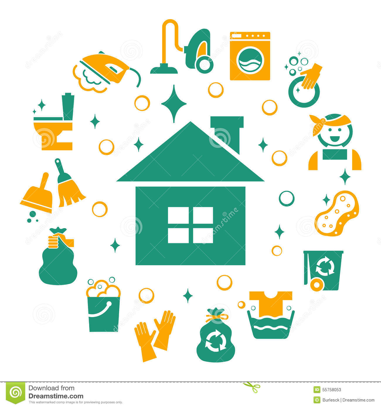 Stock Illustration Household Cleaning Icons Set Sponge Housework Glove Bucket Wash Housekeeping Vector Illustration Image55758053 on Dusting Cleaning Clip Art Free