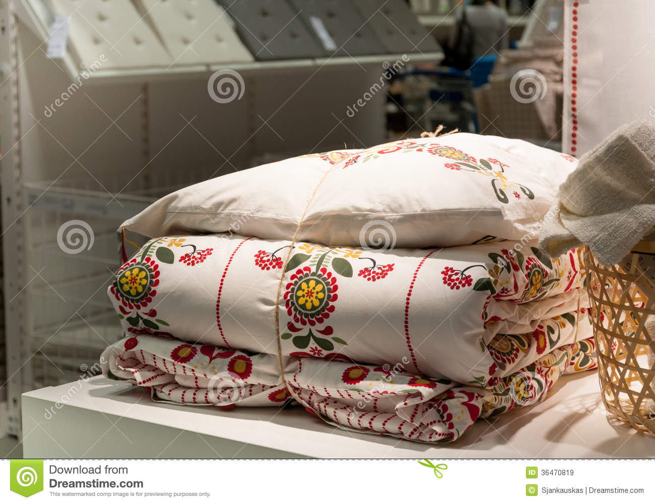 Household Goods And Bedding Shop Stock Image - Image of ...