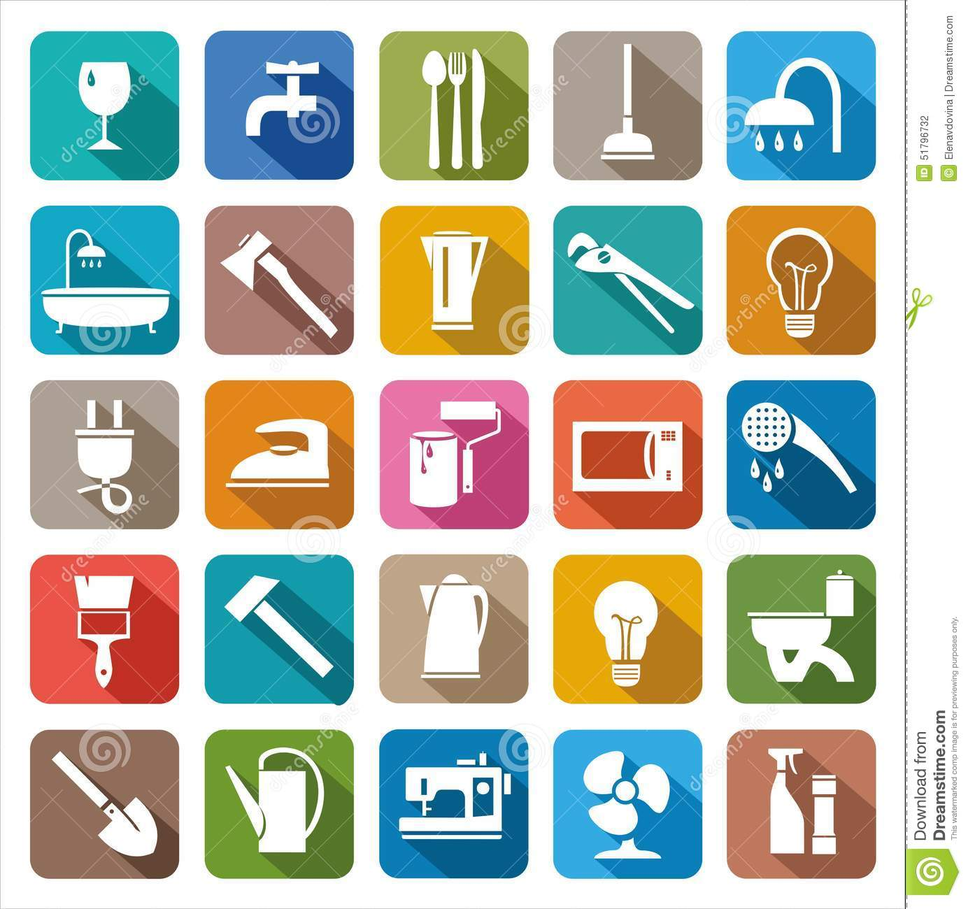 Household goods household products stock vector image - Articulos de hogar baratos ...