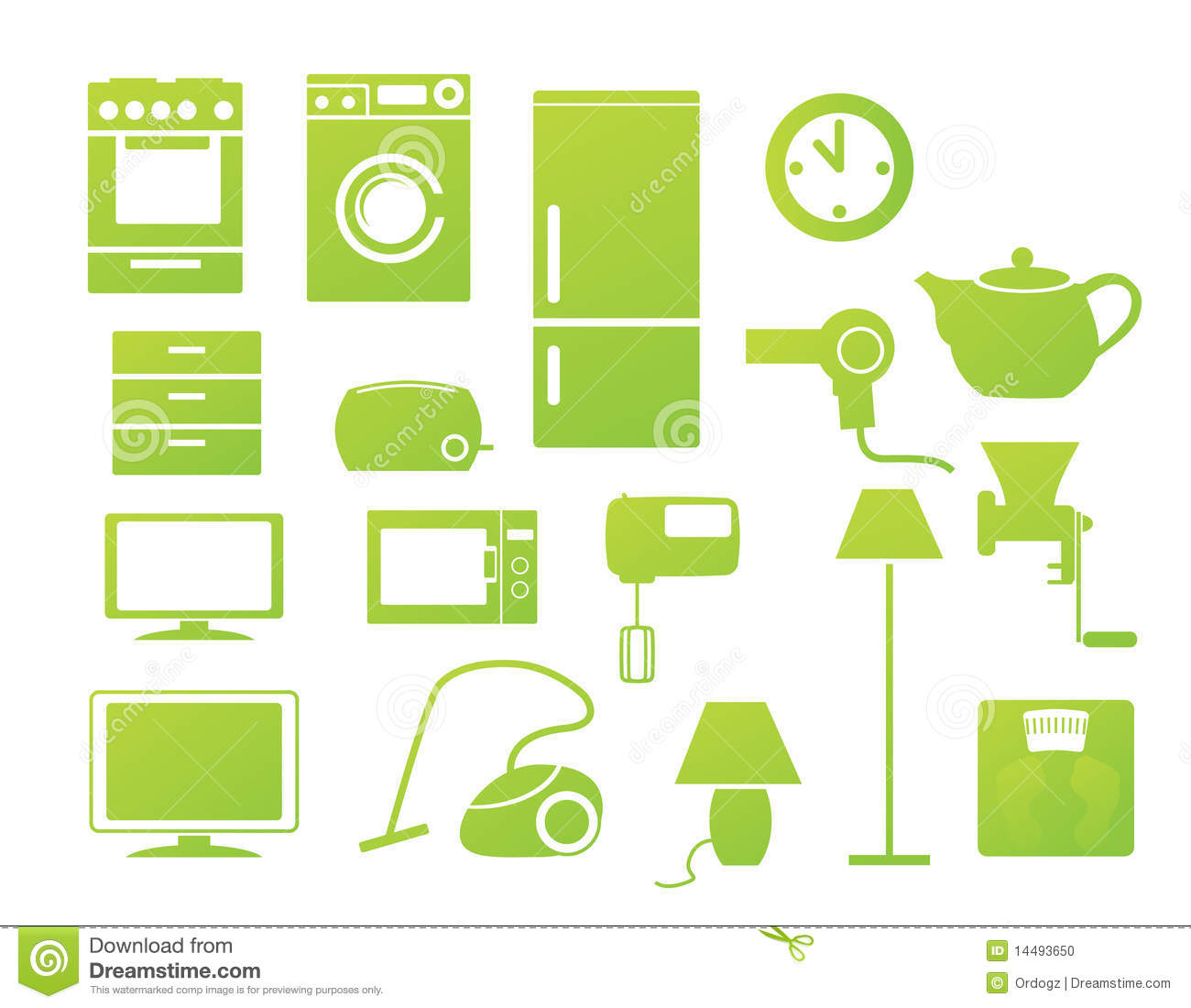 household icons stock photo   image 14493650
