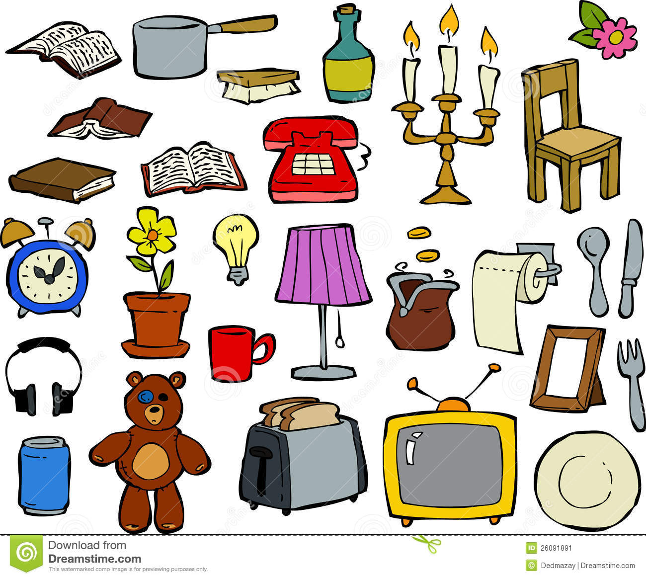 Household items stock image image 26091891 for Household design items