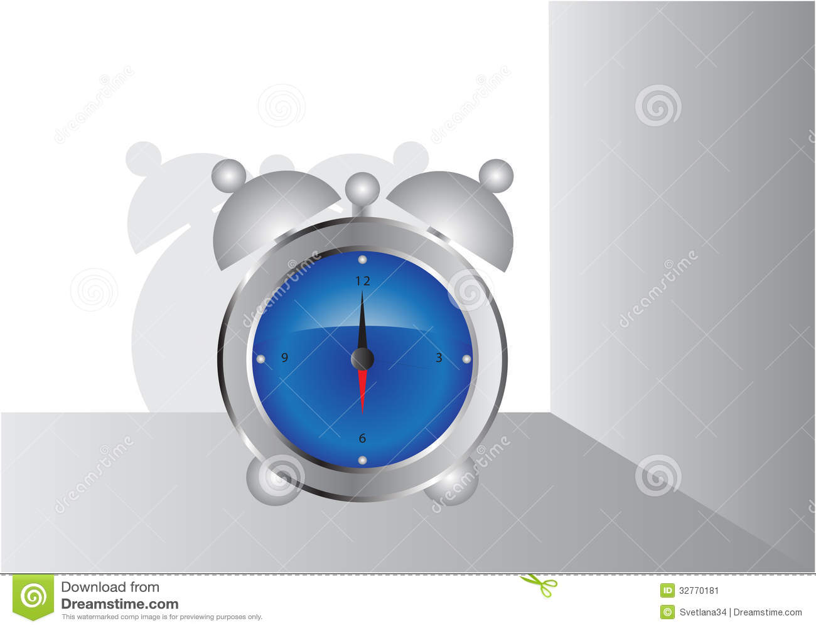 Household items, alarm clock.