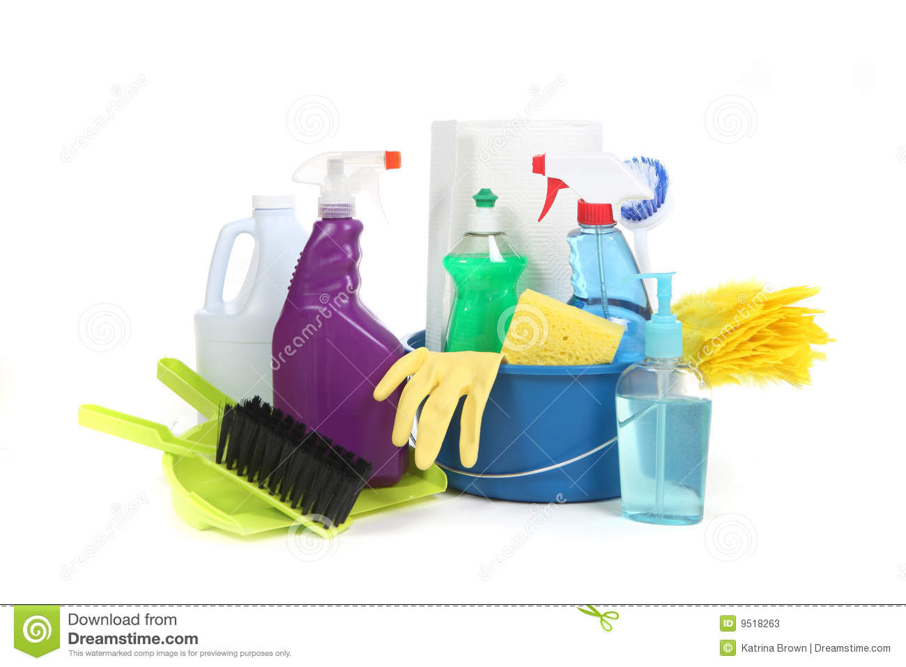 Household Items Used for Chores and Cleaning