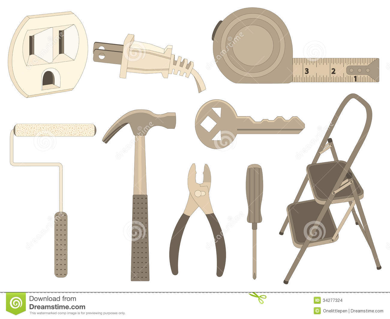 Household tools stock images image 34277324 - Household tools ...