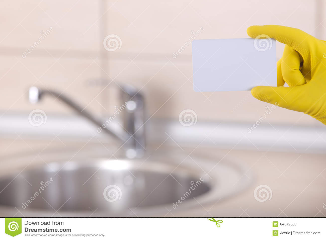 Housekeeper\'s Blank Business Card Stock Photo - Image of marketing ...