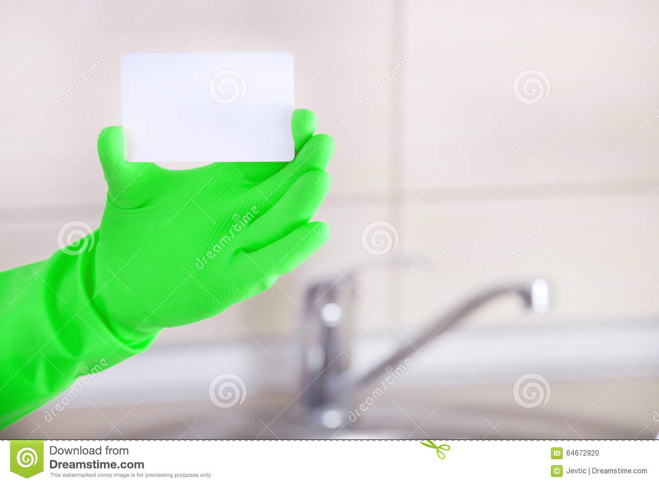 Housekeepers blank business card stock photo image 64672920 housekeeper s blank business card magicingreecefo Gallery