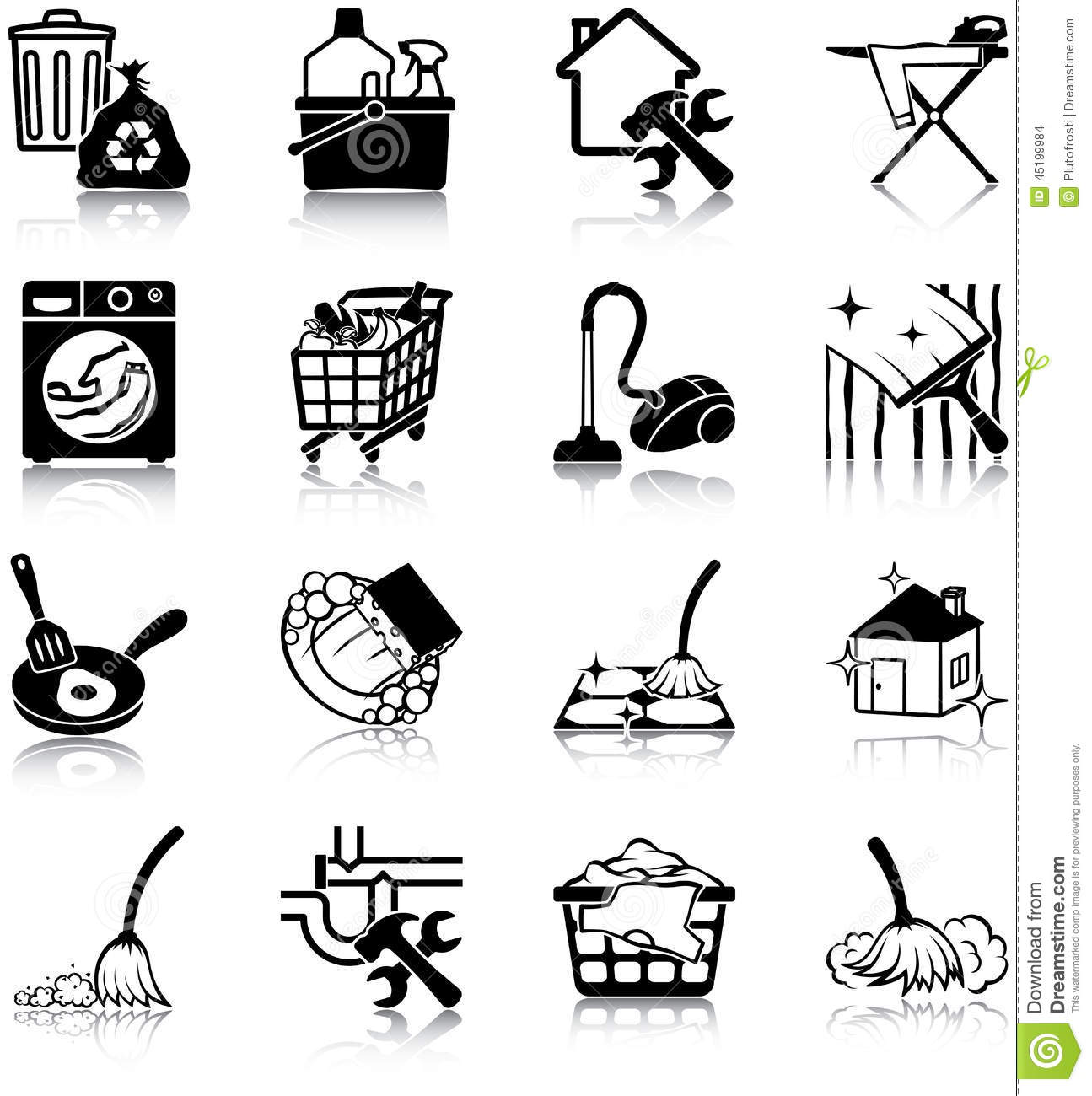 housekeeping cartoons  illustrations  u0026 vector stock images